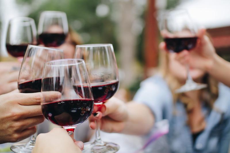 Tostadas de vino italiano