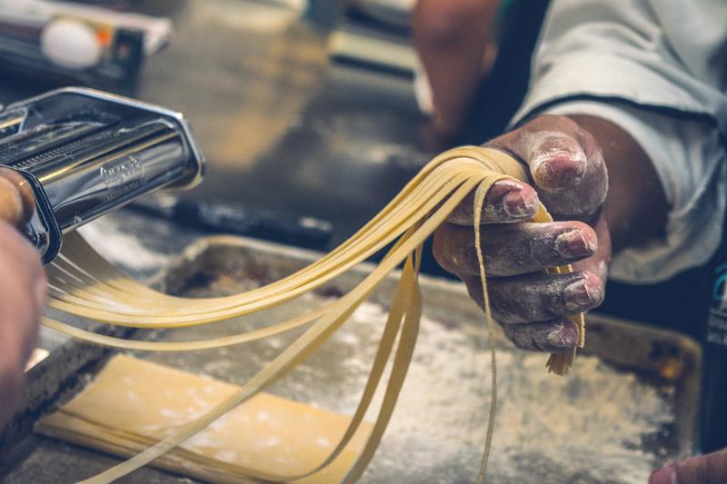 Procesamiento de pasta italiana