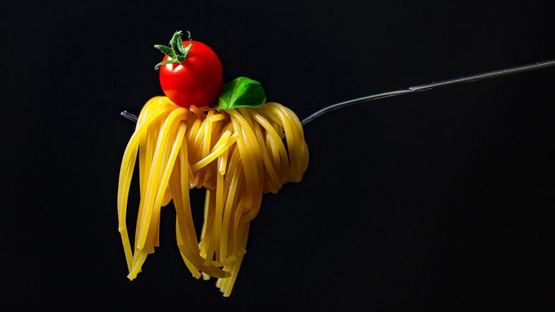 Pasta italiana de espagueti