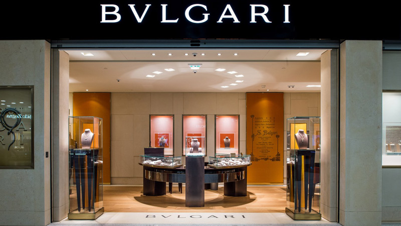 Escaparate de Bulgari