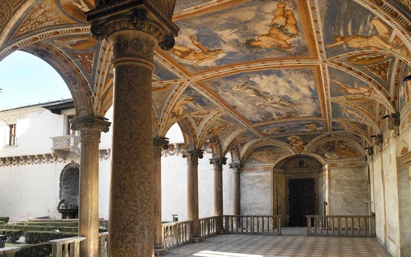 Interior del castillo del buonconsiglio