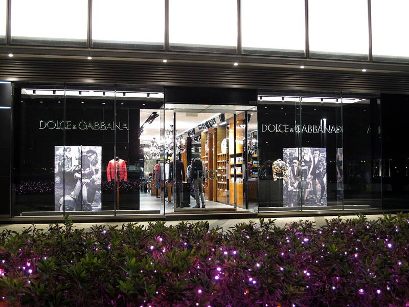 Dolce and Gabbana shops
