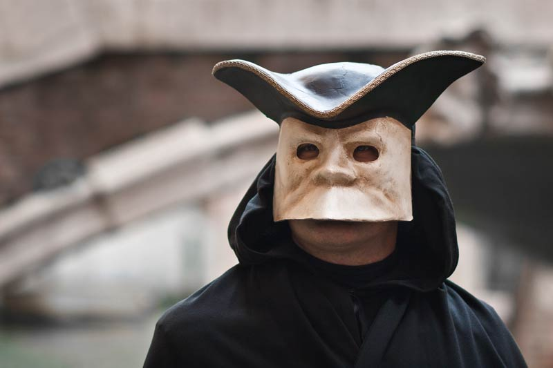 La Bauta, typical Venetian mask