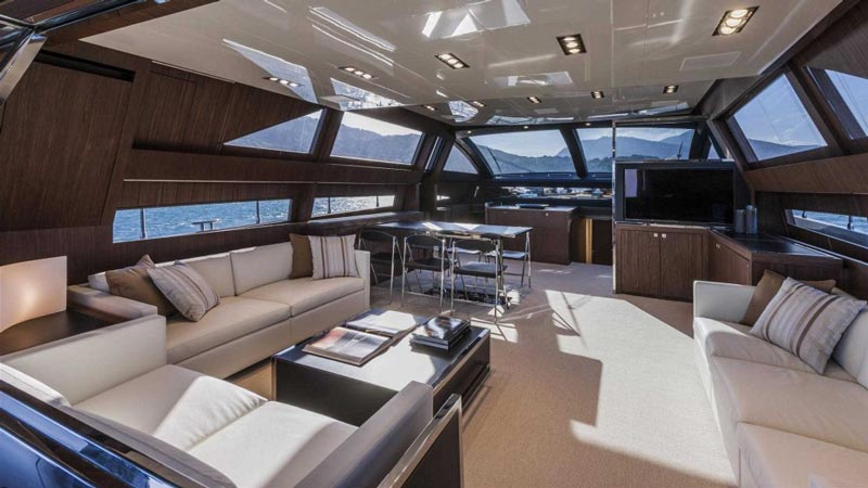 Interior of Riva luxury yachts