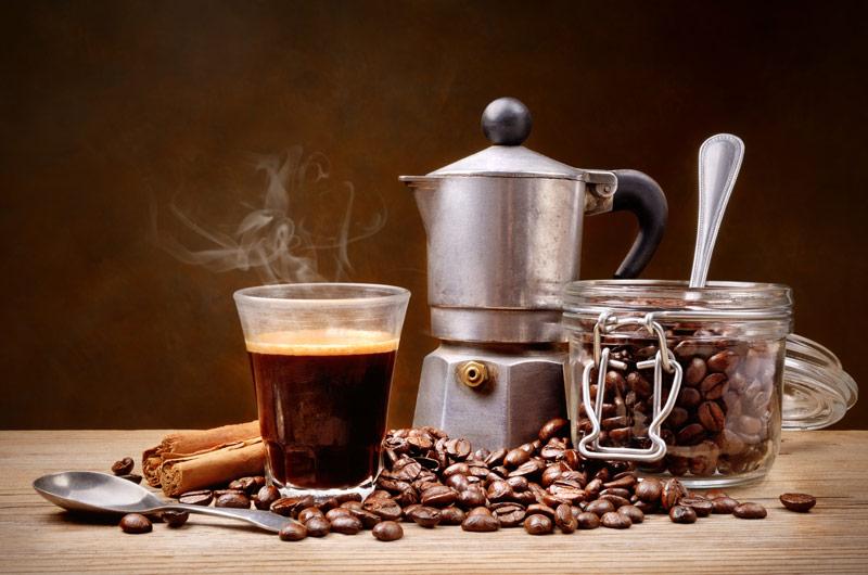 moka con caffe