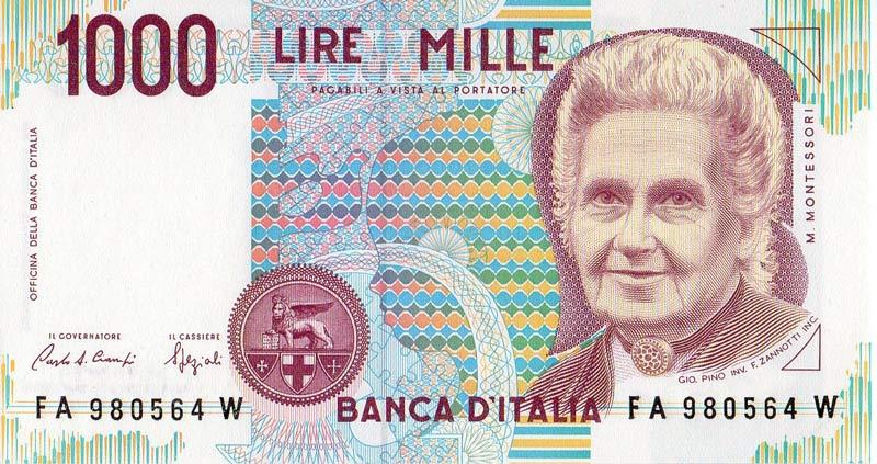 montessori mille lire