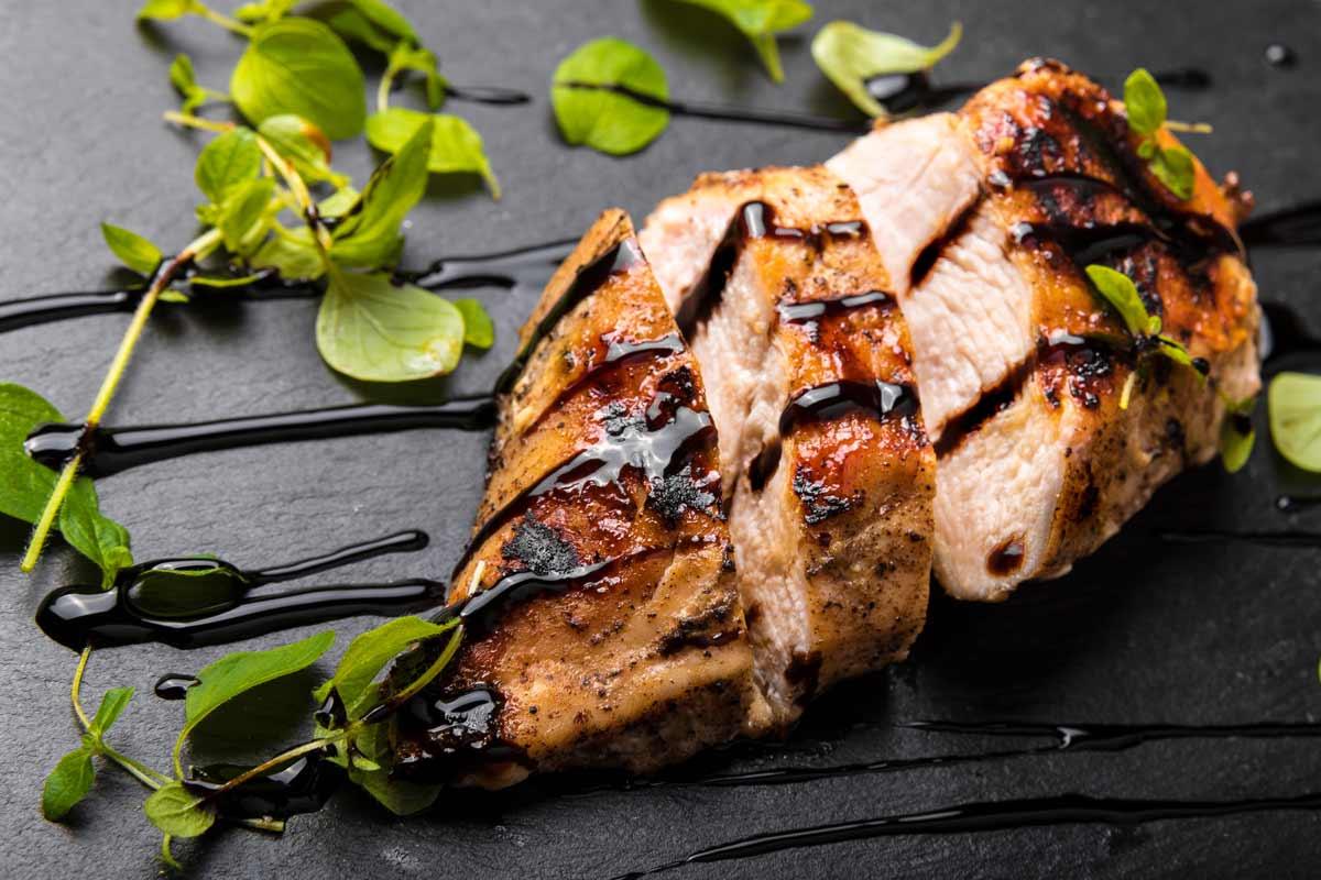 Carne con aceto balsamico