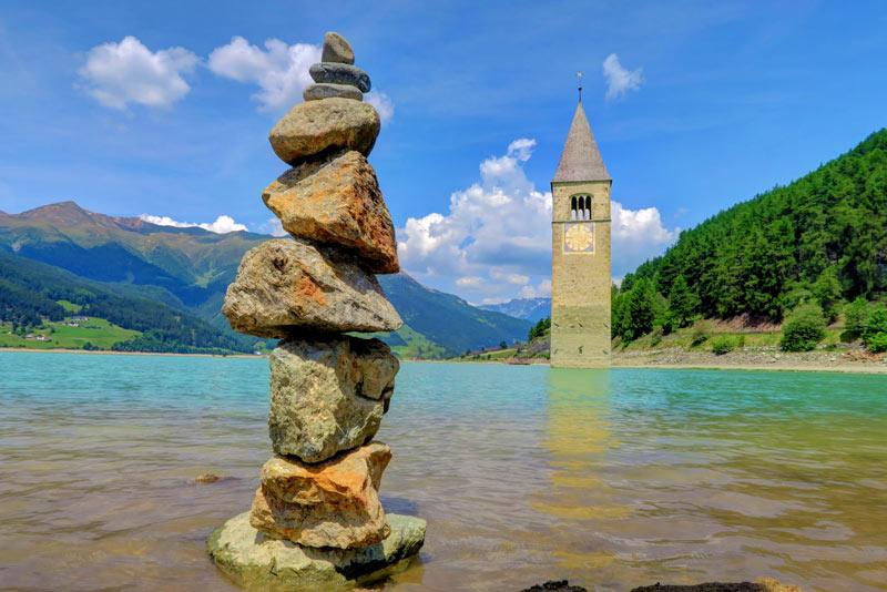 Curon Venosta e il Campanile nel Lago- Bolzano