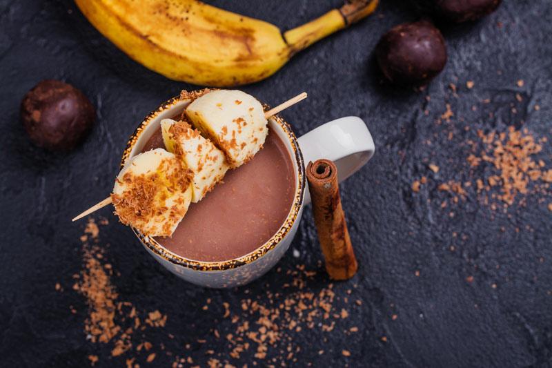 Cioccolata Calda con Banana